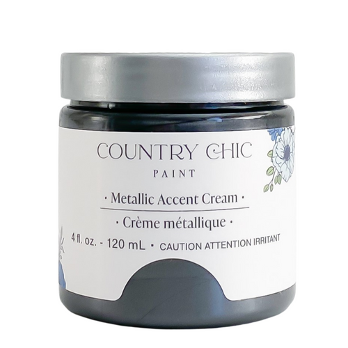 Country Chic Paint Metallic Cream in the color Trigger