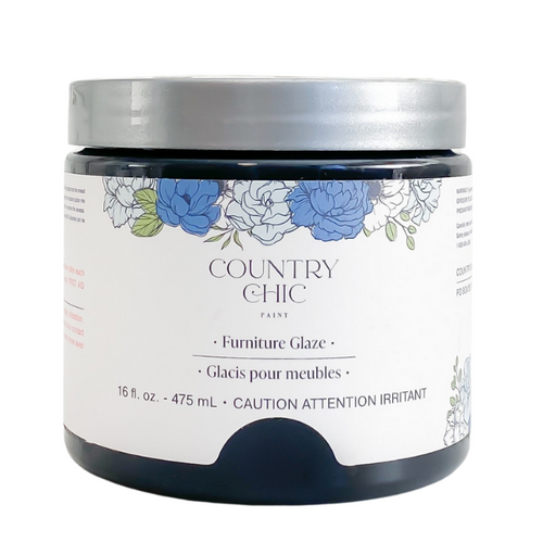 Country Chic Paint Furniture Glaze in the color Graphite