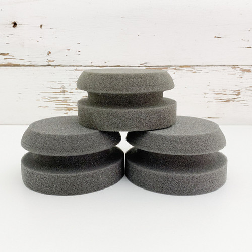 Three Country Chic Paint Painting Sponges stacked