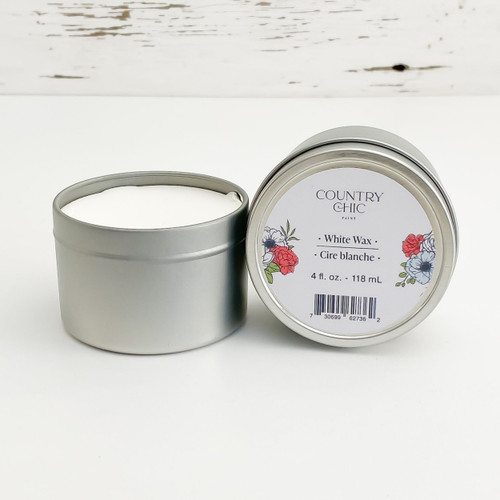 Country Chic Paint White Wax furniture wax open jar