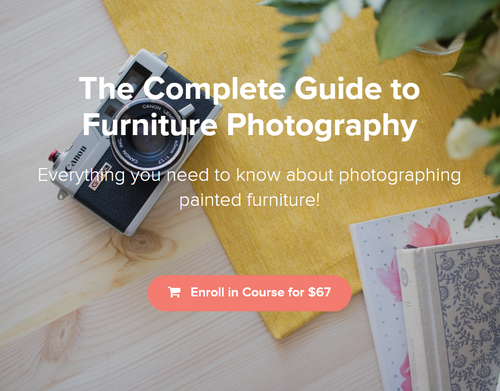 The Complete Guide to Furniture Photography Course info