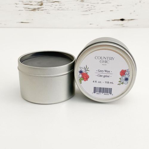 Country Chic Paint Grey Wax furniture wax open jar