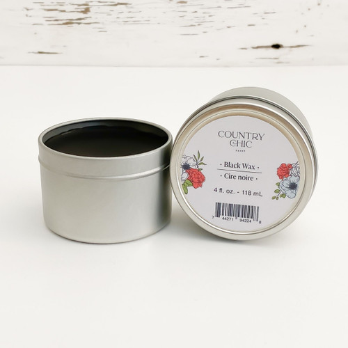 Country Chic Paint Black Wax furniture wax open jar
