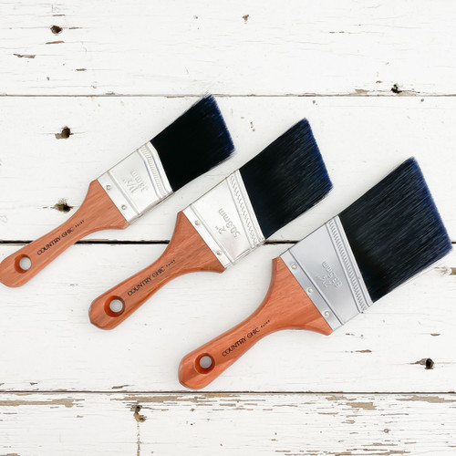 3 sizes of Country Chic Paint Short Handle Brushes