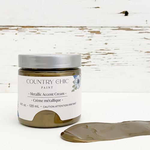 4 oz jar of Belt Buckle bronze metallic cream with smear of cream in front
