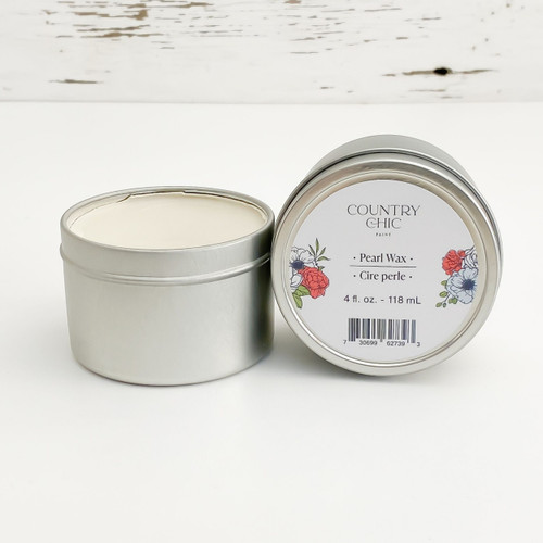 Country Chic Paint Pearl Wax shimmery furniture wax open jar