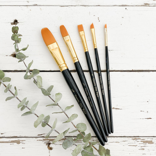 Pack of 5 Country Chic Paint Artist Brushes