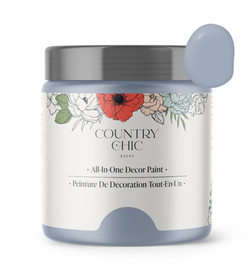 16oz jar of Country Chic Chalk Style All-In-One Paint in the color Mermaid's Tale. Soft purple.
