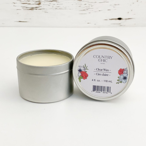 Country Chic Paint Clear Wax colorless furniture wax open jar