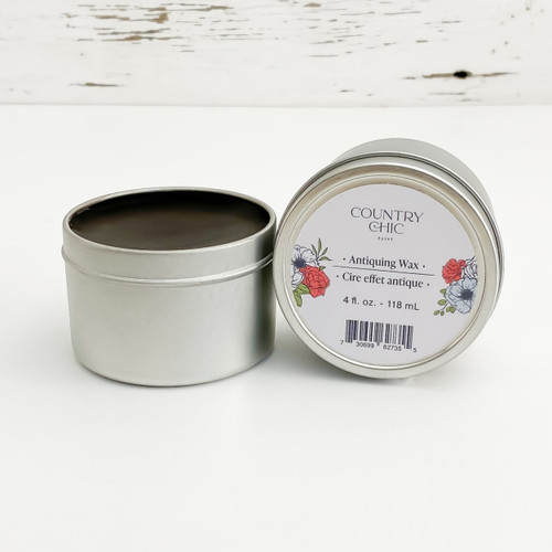 Country Chic Paint Antiquing Wax dark brown furniture wax open jar