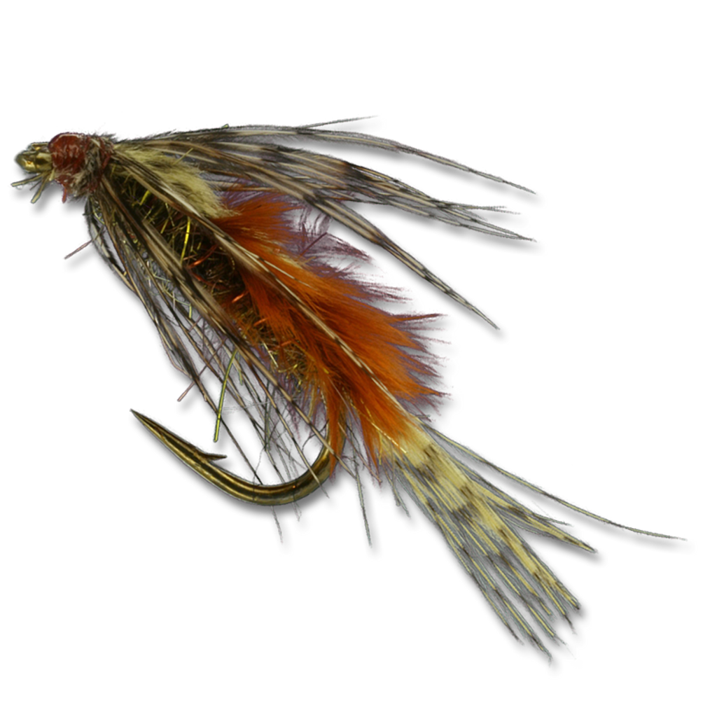 Zack's Slow Water Emerger - Burnt Orange/Peacock