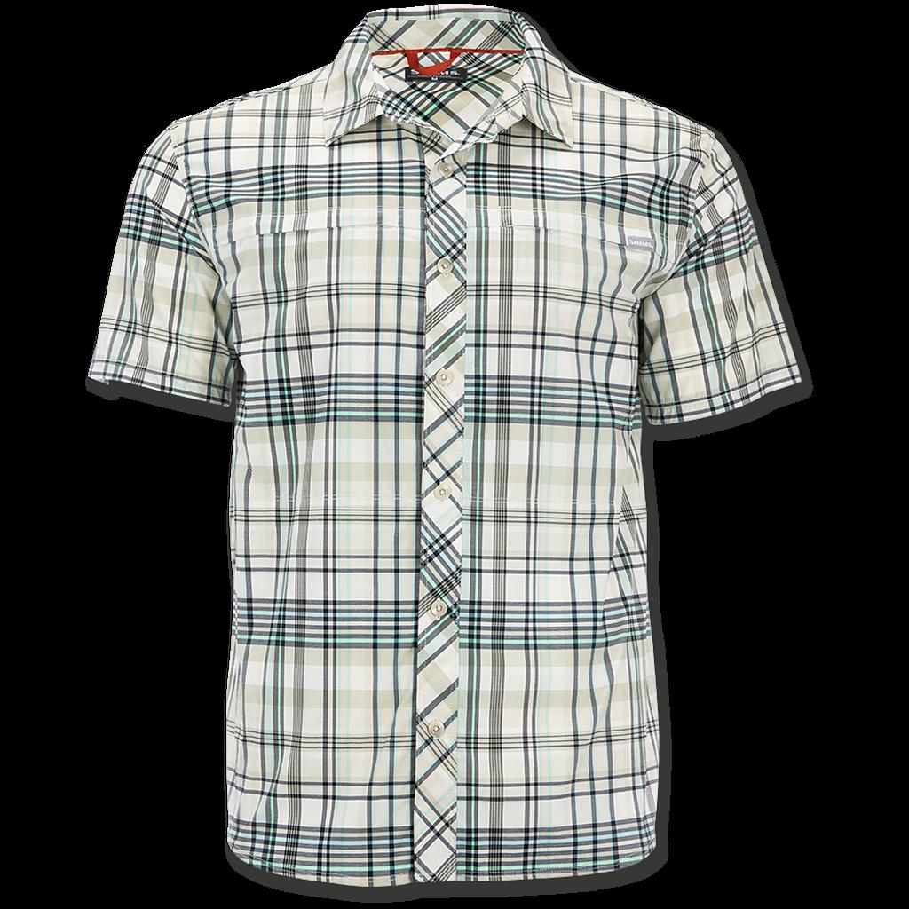 Simms Stone Cold SS Shirts - Pearl Madras Plaid