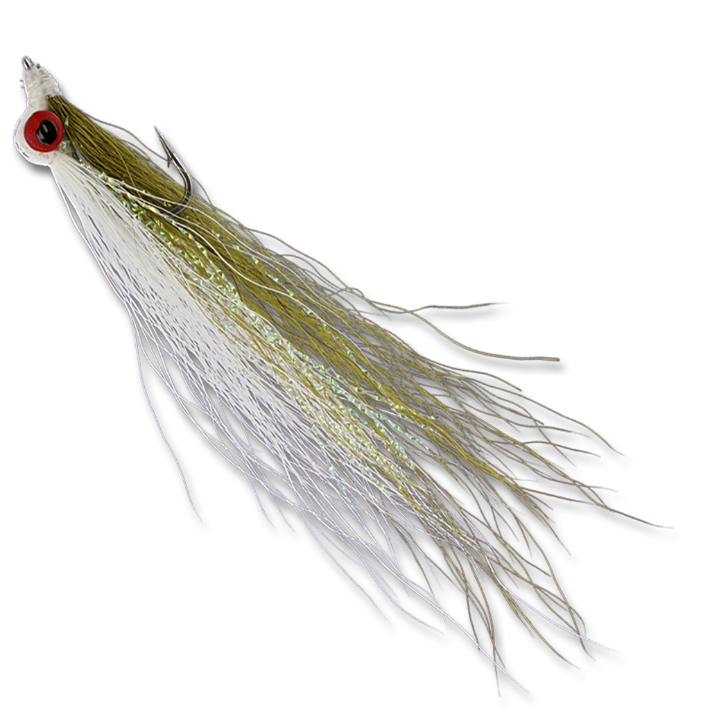 Freshwater Clousers - Olive/White #6