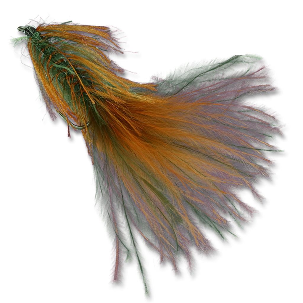 Zack's Stillwater Swimming Leech - Burnt Orange/Olive Mix Tail