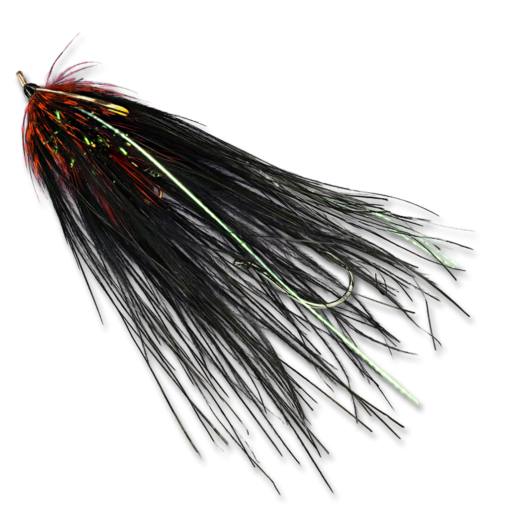 Super Spey Phantom's - Black/Orange #2