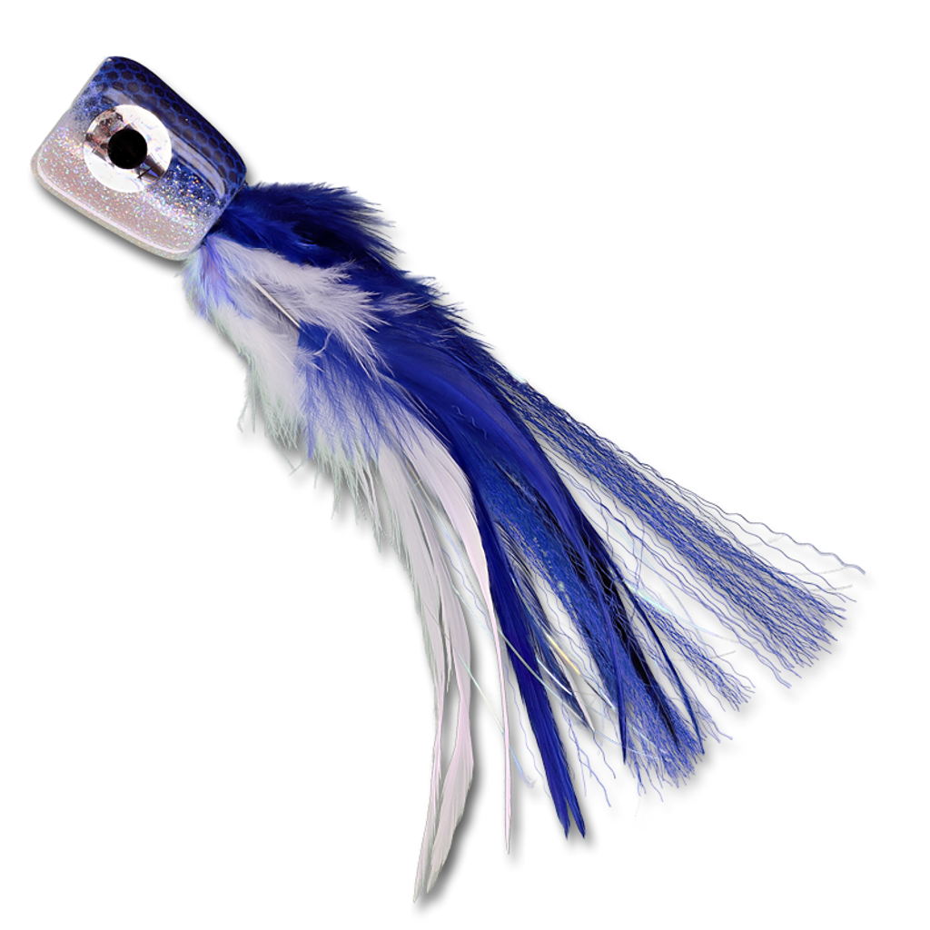 Poppin' Featherhead - Blue/Pearl Tube