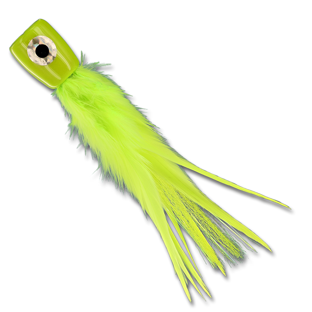 Poppin' Featherhead - Chartreuse Tube