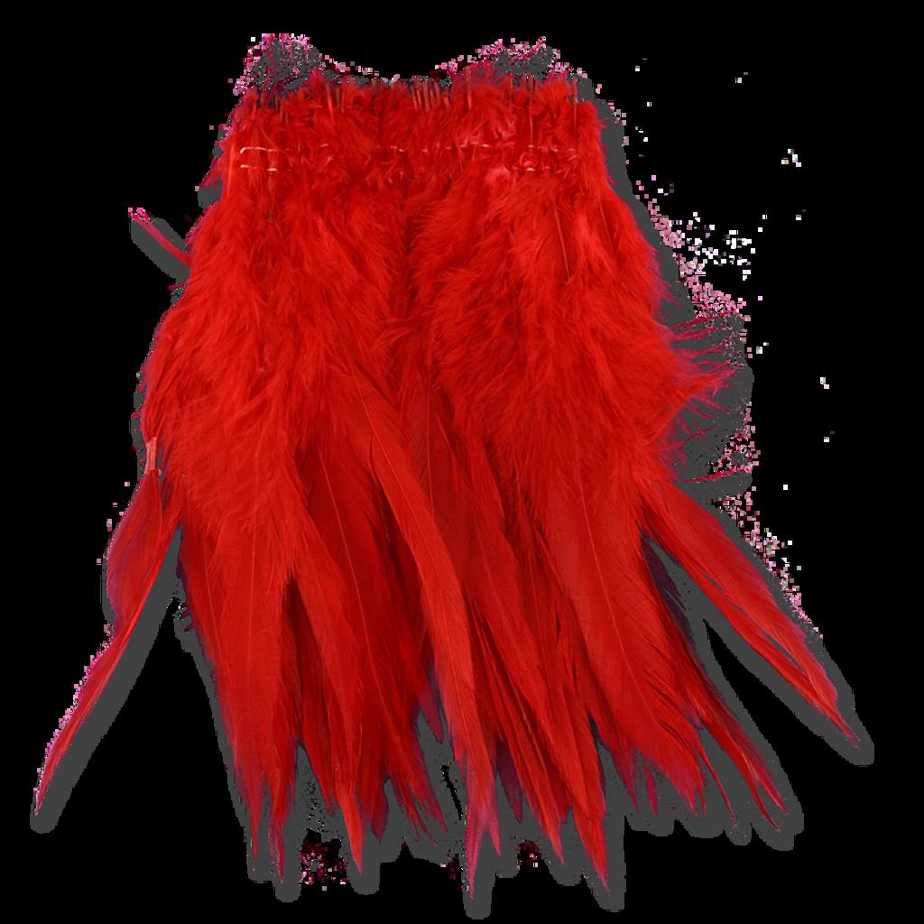 Super Strung Webby Saddle Hackle - Red
