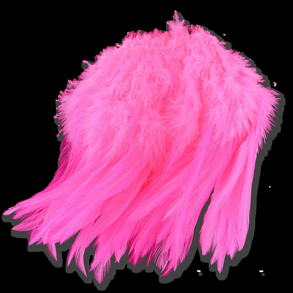 Super Strung Webby Saddle Hackle - Pink