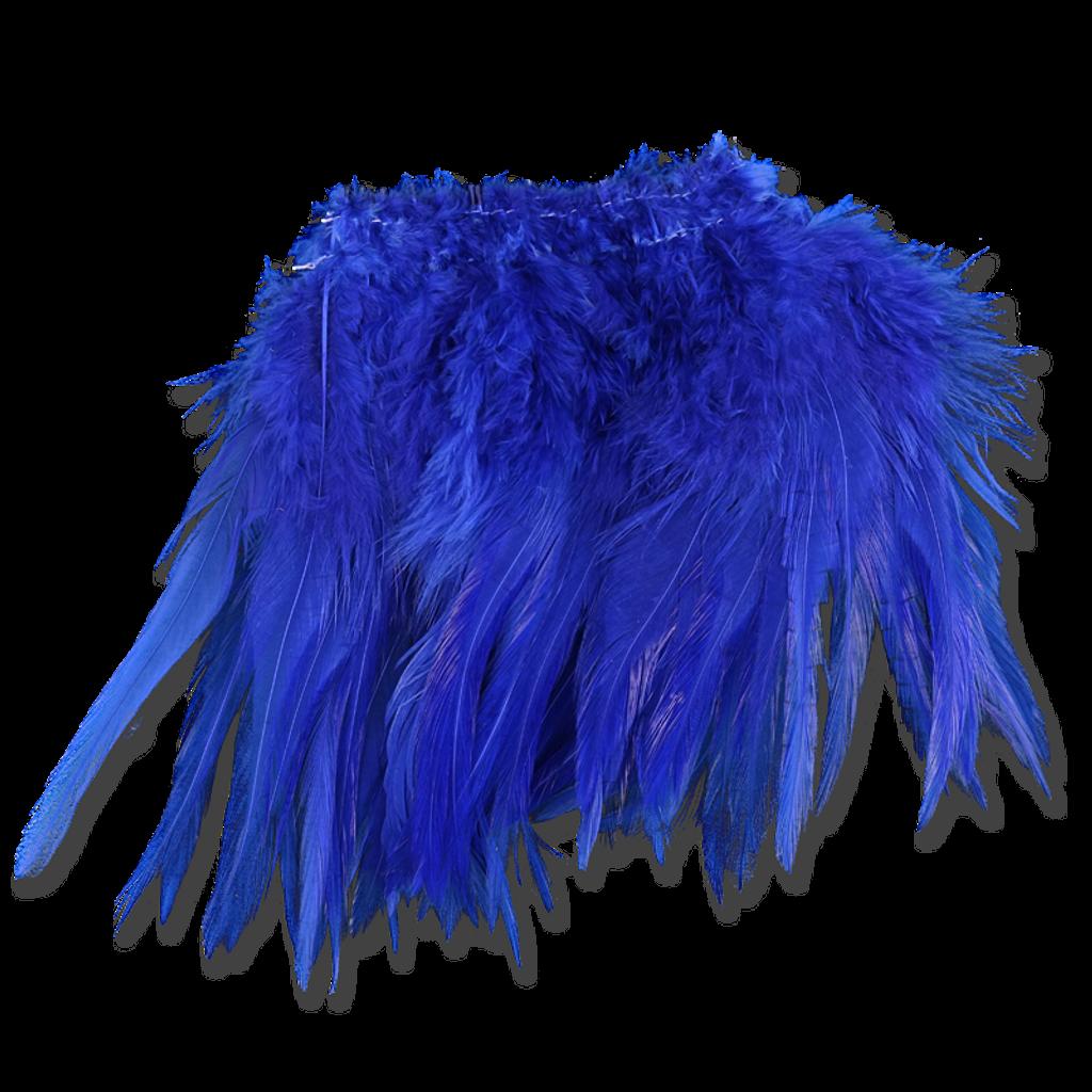 Super Strung Webby Saddle Hackle - Royal Blue