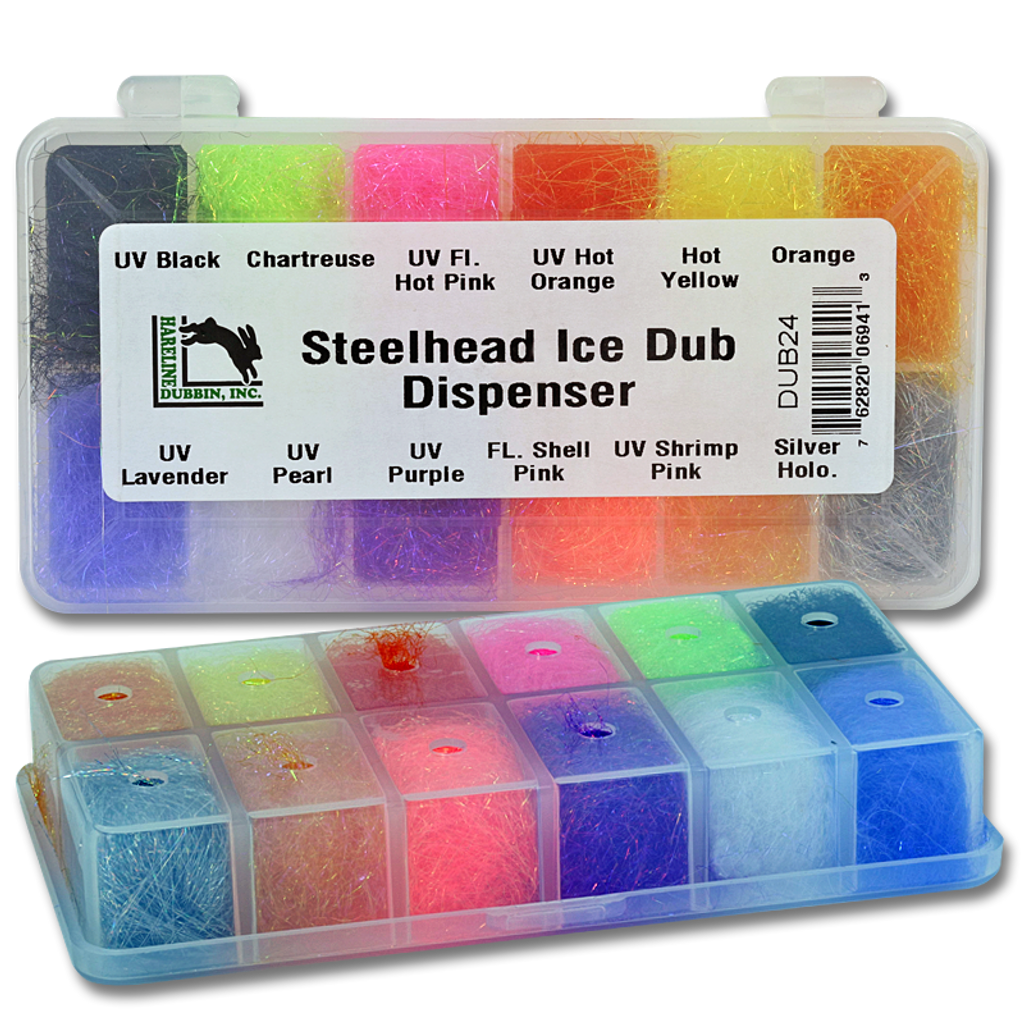 Hareline Steelhead Ice Dub Dubbing Dispenser