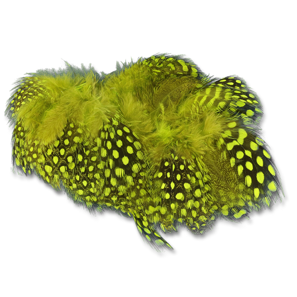 Select Guinea Body Feathers - Chartreuse