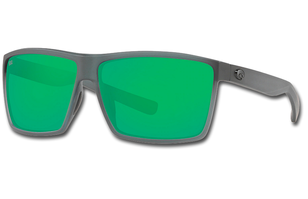 Rincon Polarized 580 Sunglasses - Matte Smoke Crystal/Green Lightwave Glass