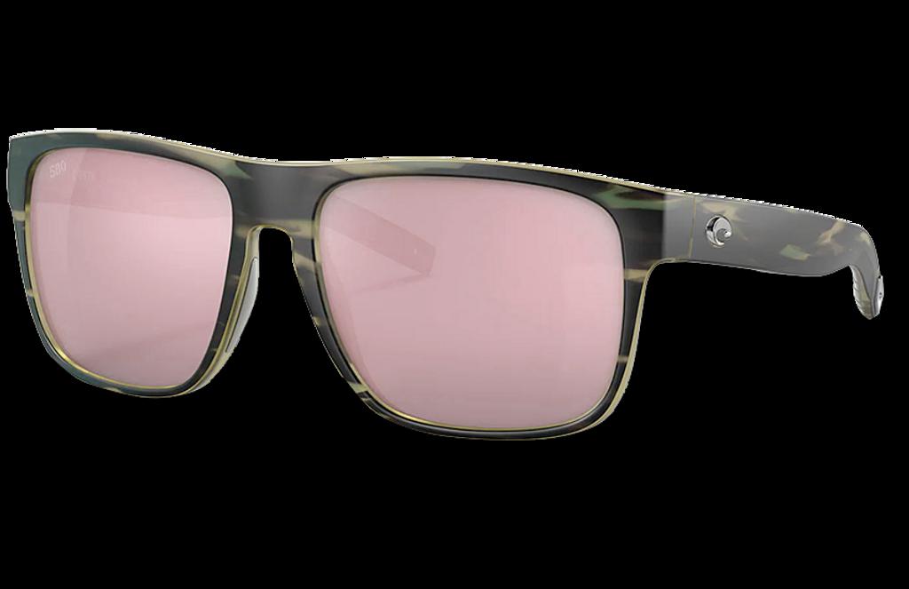 Spearo XL Polarized Glass 580 Sunglasses - Matte Reef/Copper Silver Lightwave Glass