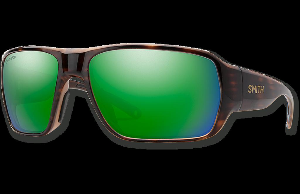 Castaway ChromaPop Polarized Glass Sunglasses - Tortoise/Polarized Green Mirror