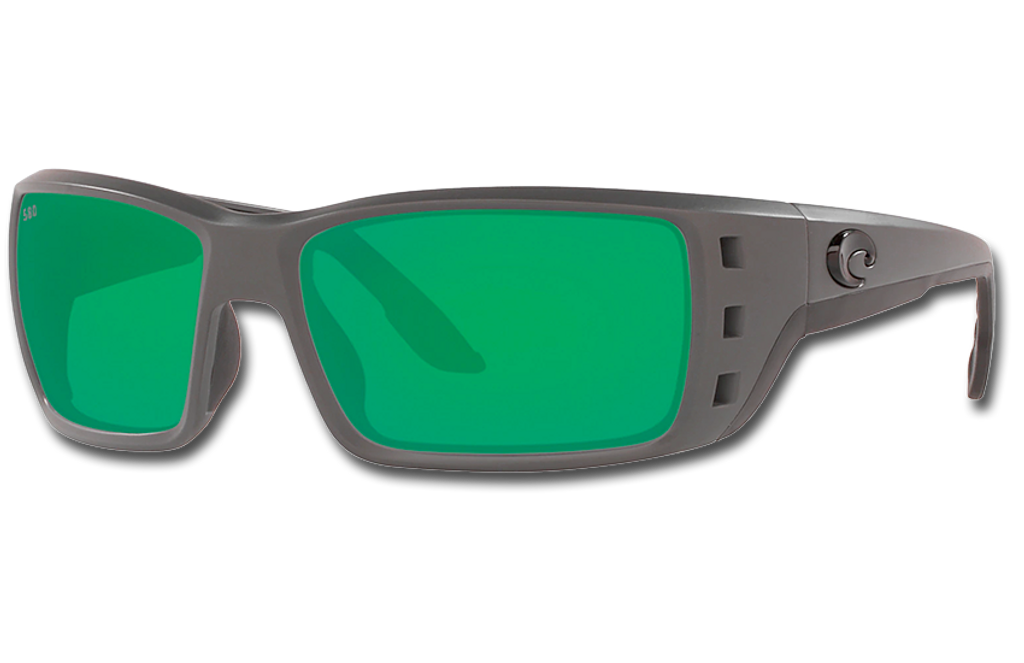 Permit Polarized Glass 580 Sunglasses - Matte Gray/Green Lightwave Glass