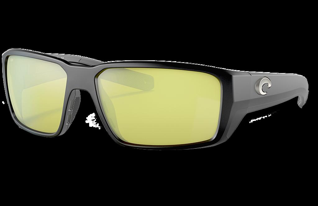 Fantail Pro Polarized Glass 580 Sunglasses - Matte Black/Sunrise Silver Lightwave Glass