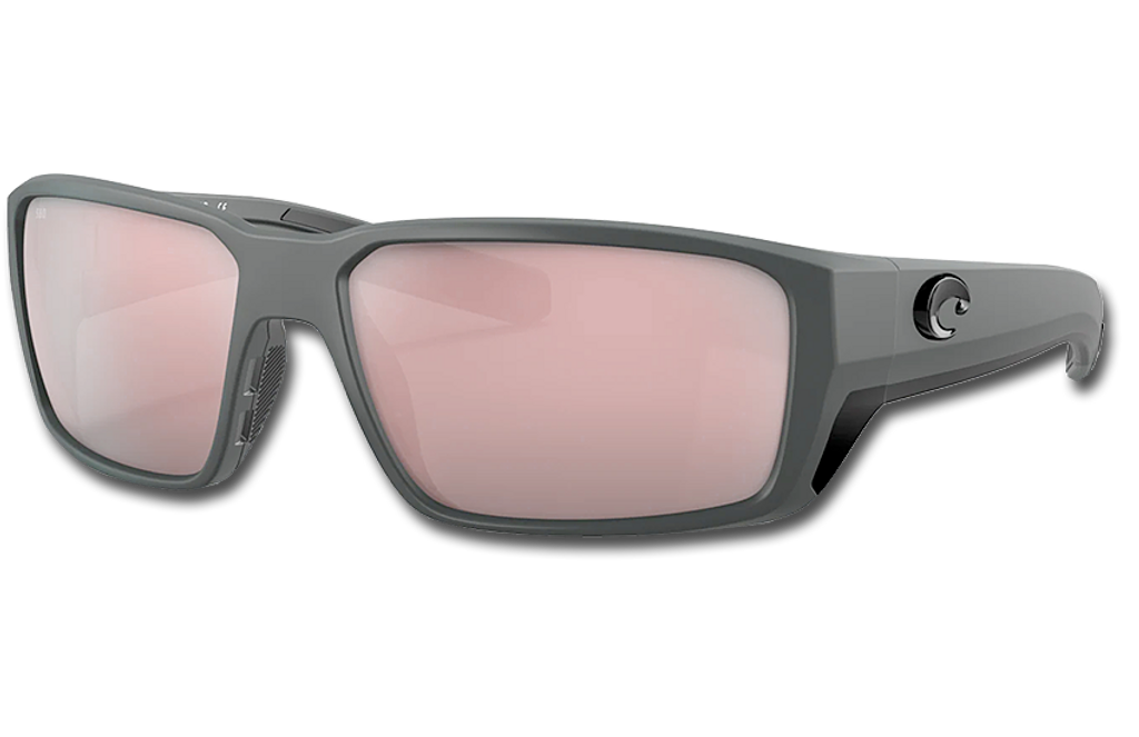 Fantail Pro Polarized Glass 580 Sunglasses - Matte Gray/Copper Silver Lightwave Glass