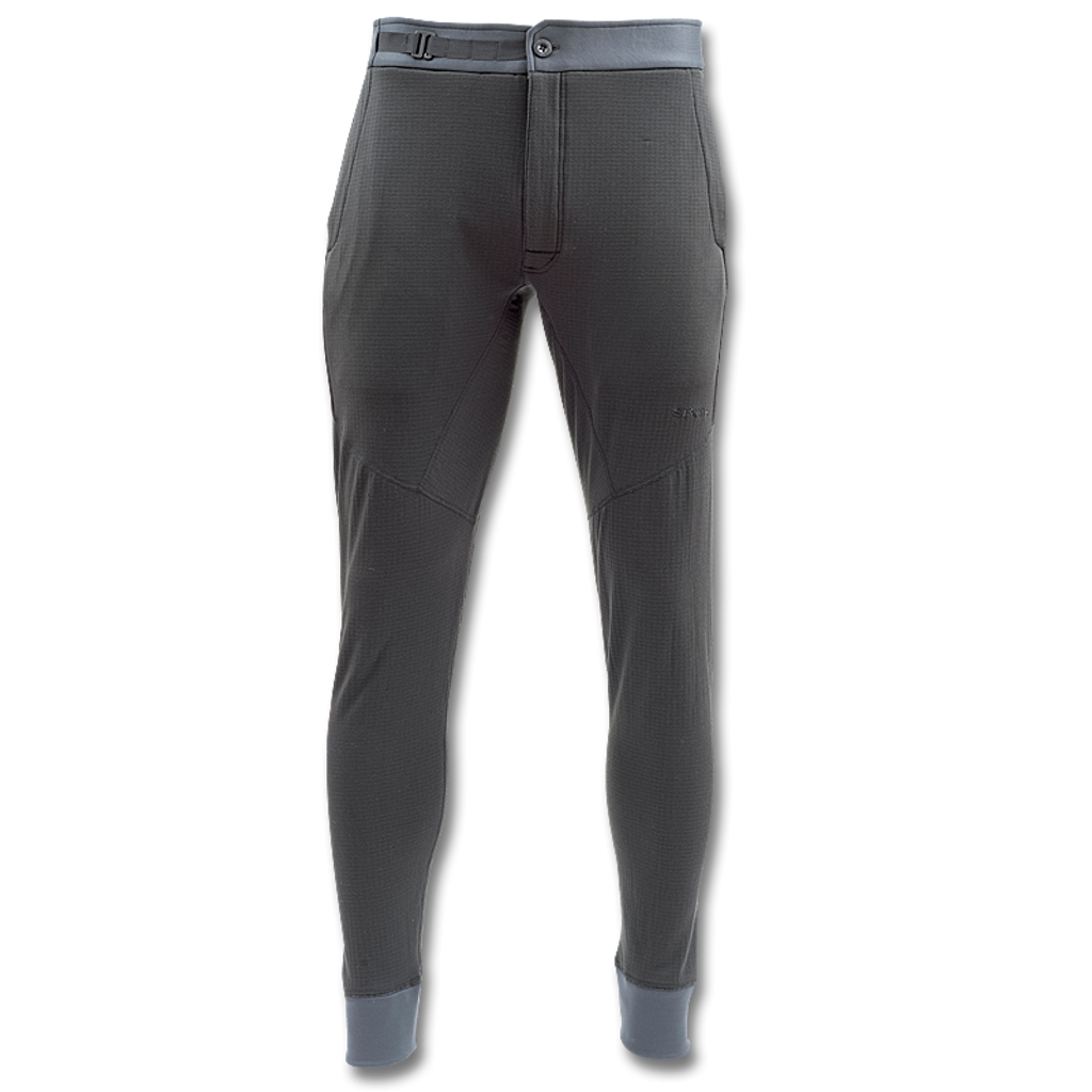 Simms Fleece Midlayer Bottom - Raven (Front)
