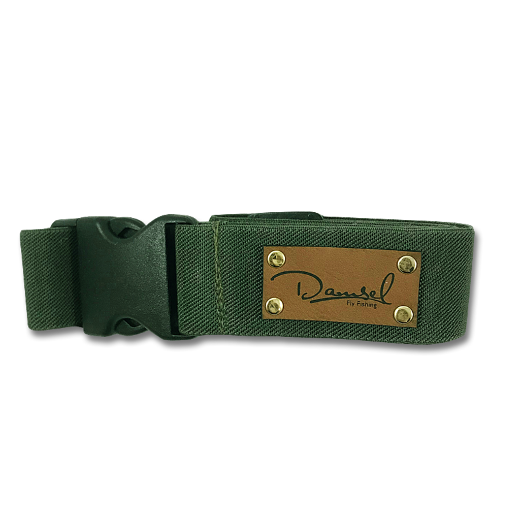Damsel Fly Fishing Wading Belt - Deep Green