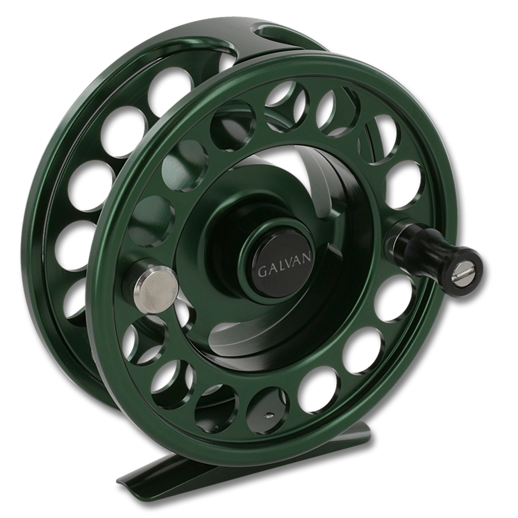 Galvan Rush LT Fly Reel - Green (Front)