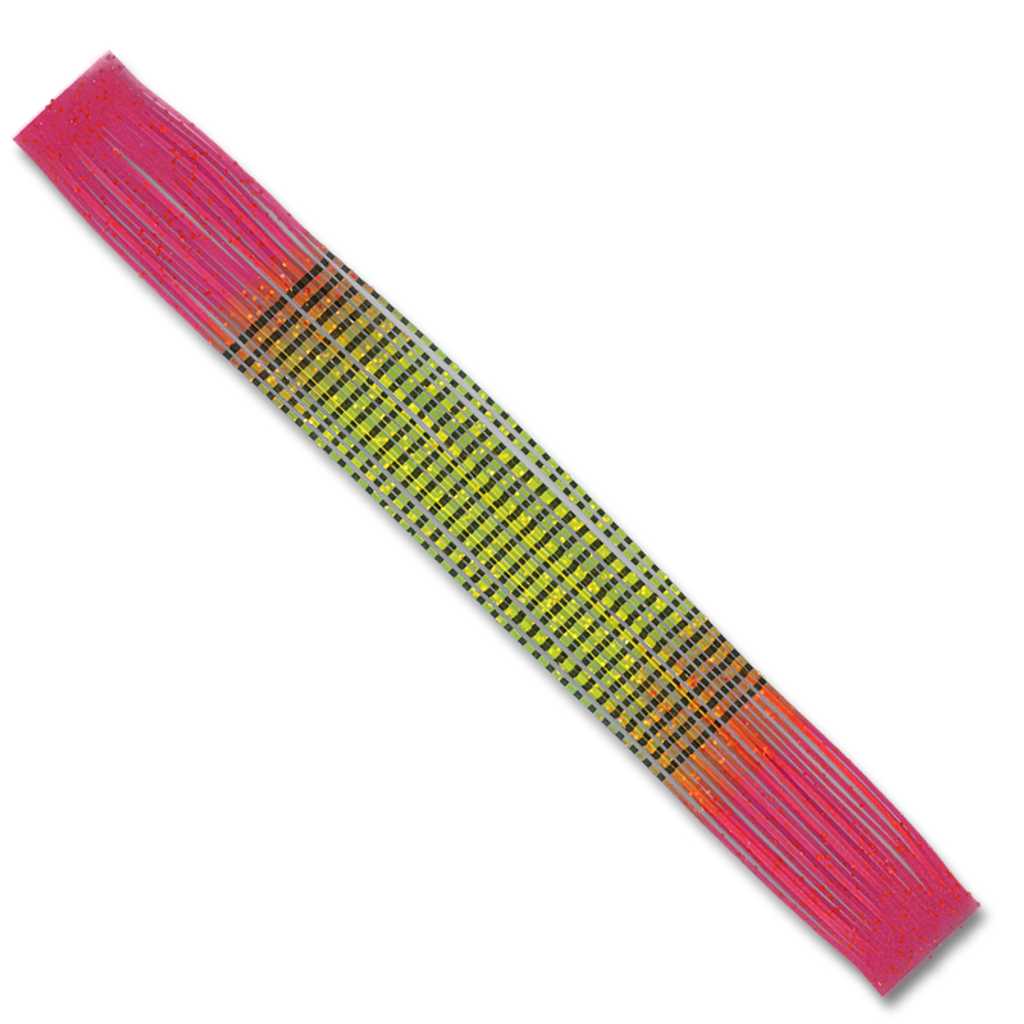 Barred Fire-Tip Sili Legs - Hopper Yellow/Red