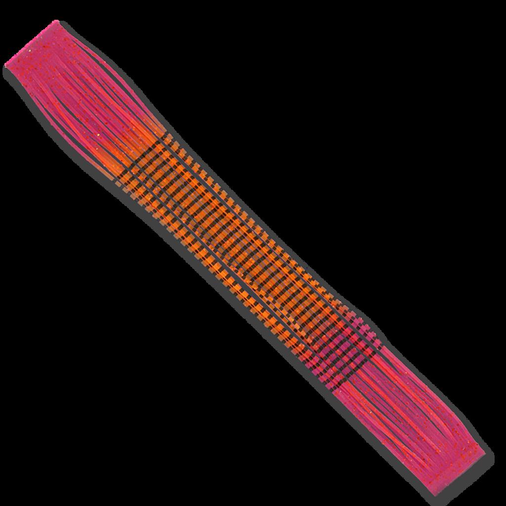 Barred Fire-Tip Sili Legs - Orange/Red