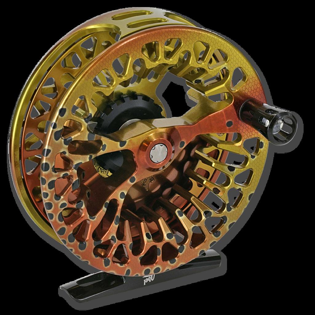 Abel Vaya Series Fly Reels - Front (Native Cutthroat)