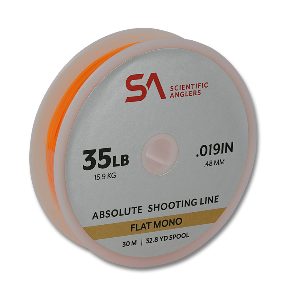 Scientific Anglers Absolute Flat Mono Shooting Line - 35 LB