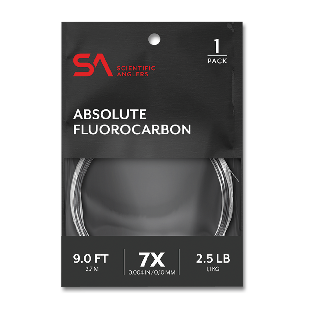 """Scientific Anglers Absolute 9'0"""" Trout Fluorocarbon Leaders"""