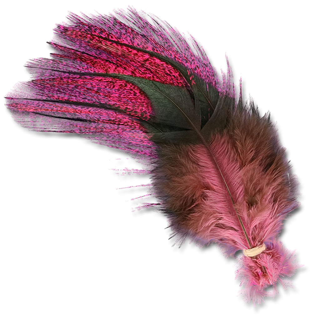 UV2 Coq De Leon Fire Tail Feathers - Hot Pink