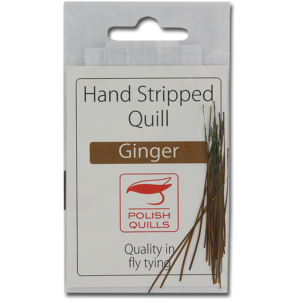 Stripped Peacock Quills - Ginger