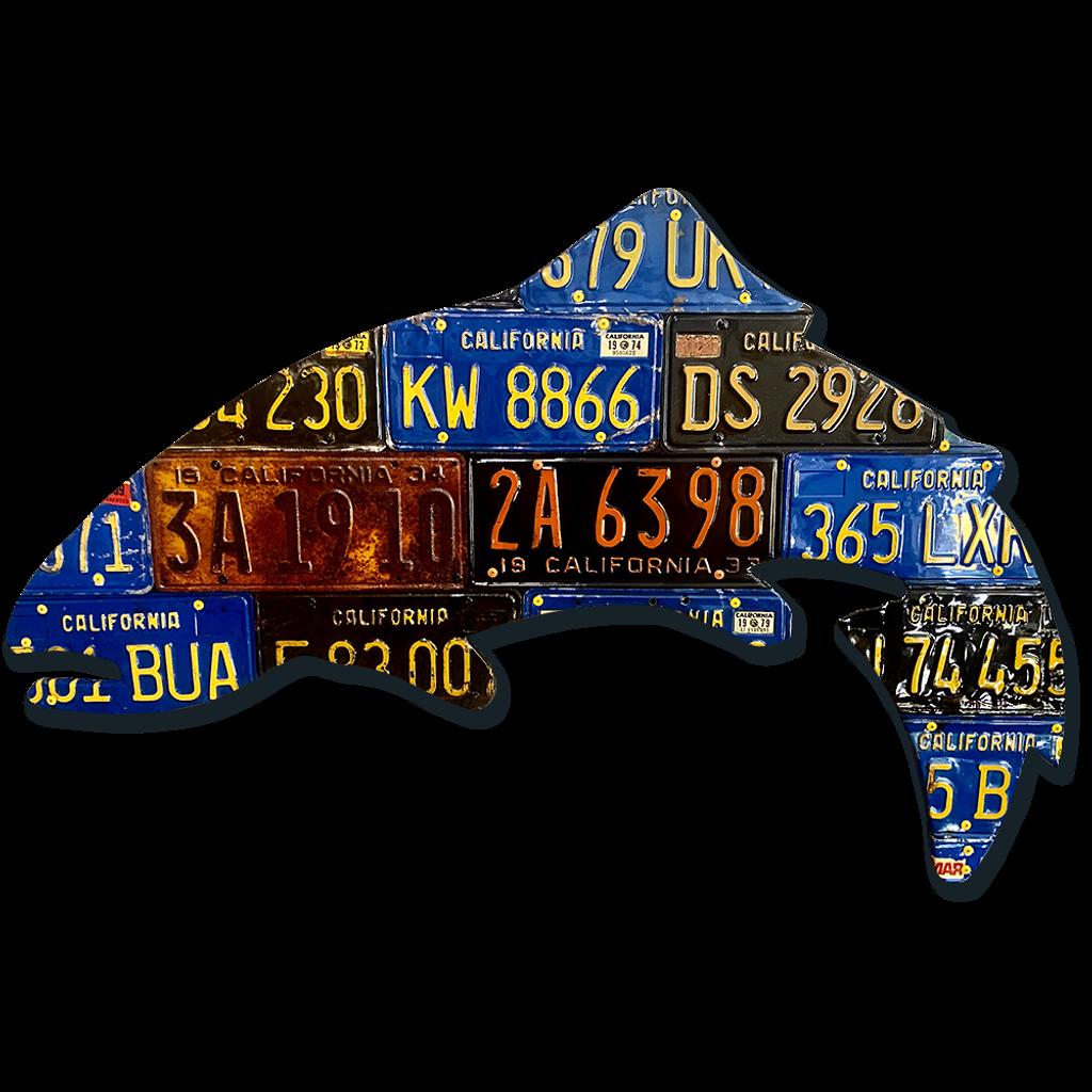 California Trout License Plate Art