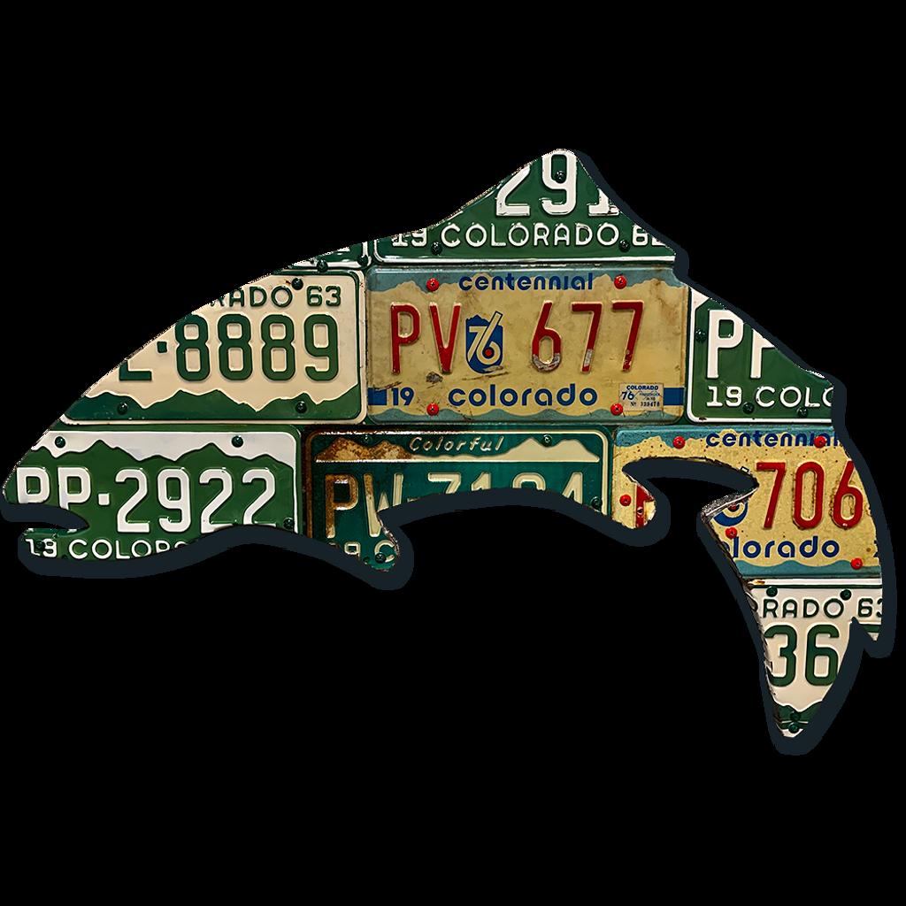 Vintage Colorado Trout License Plate Art