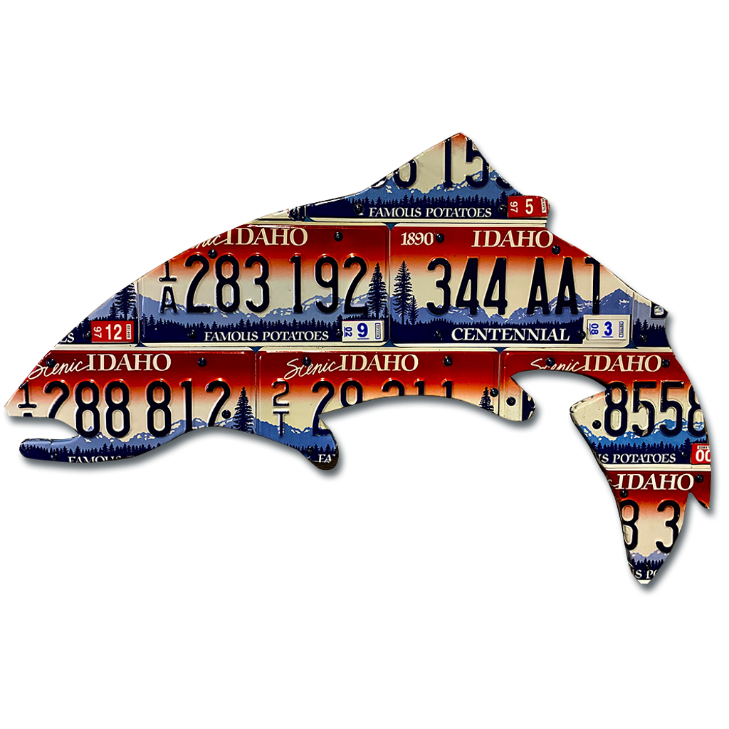 Idaho Trout License Plate Art