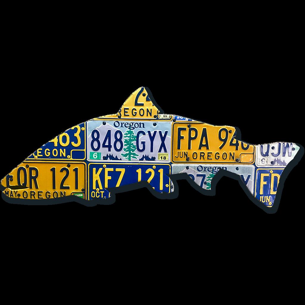 Oregon Steelhead License Plate Art