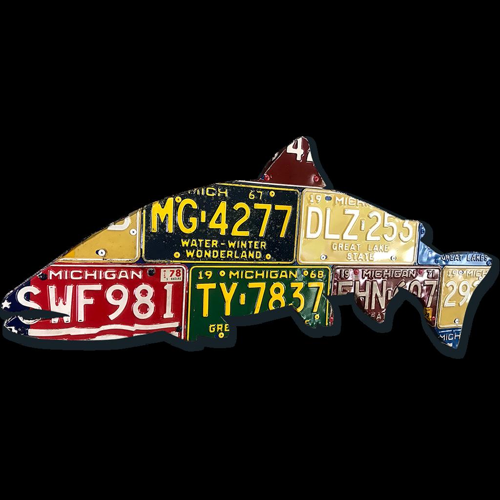 Steelhead License Plate Art