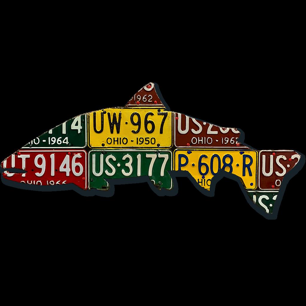 Ohio Steelhead License Plate Art