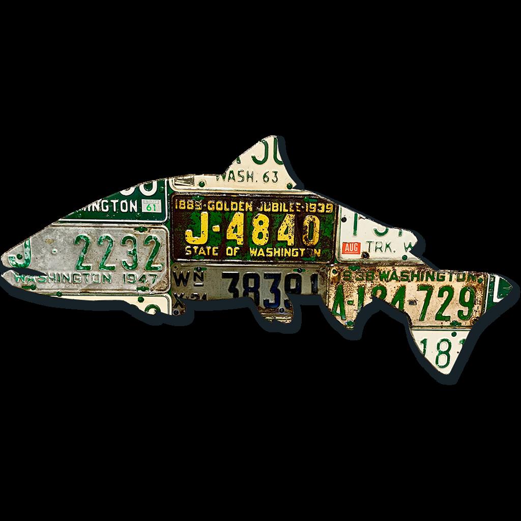 Washington Antique Steelhead License Plate Art