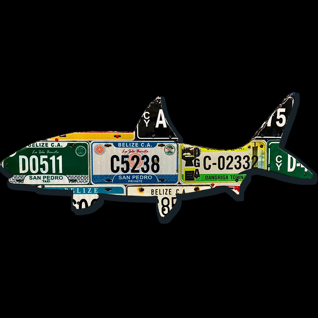 Belize Bonefish License Plate Art